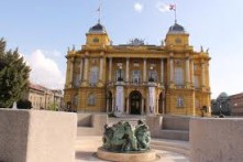 CROATIAN NATIONAL THEATRE AND FOUNTAIN OF LIFE