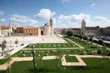 ROMAN FORUM - THE TOWN SQUARE IN THE CENTER OF ZADAR